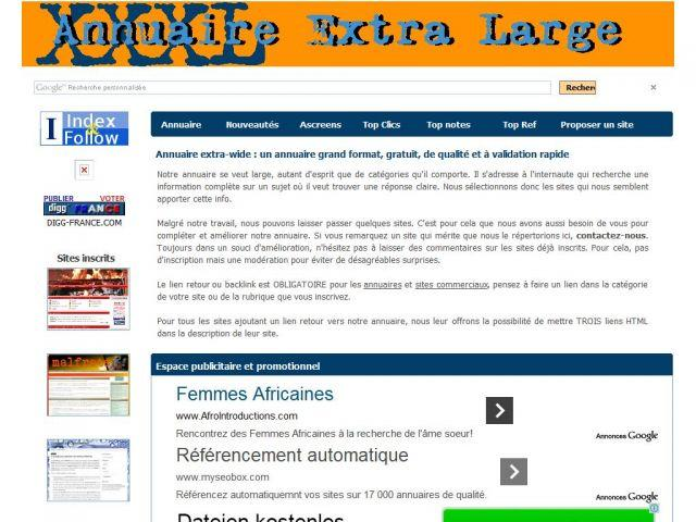 Annuaire Extra-Wide, l'annuaire grand format !