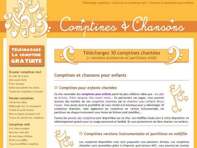 Les comptines pour enfants par Bruno Coupé