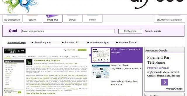 Guide Arfooo, annuaire généraliste gratuit