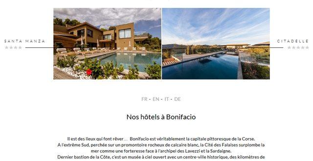 Chercher une chambre dans un hôtel sur l'île de Beauté