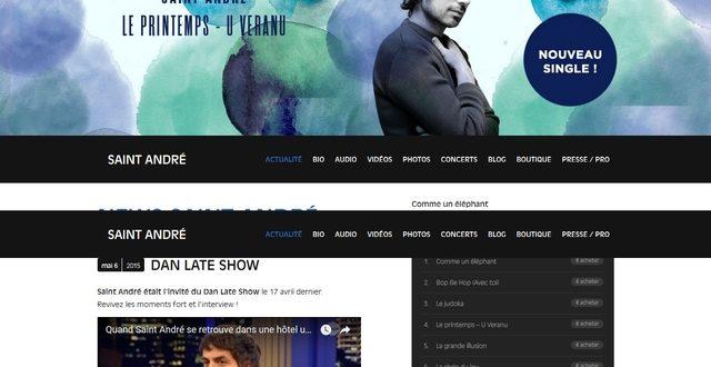 Découvrez Saint-André interprète par le biais du site Saint-André.tv