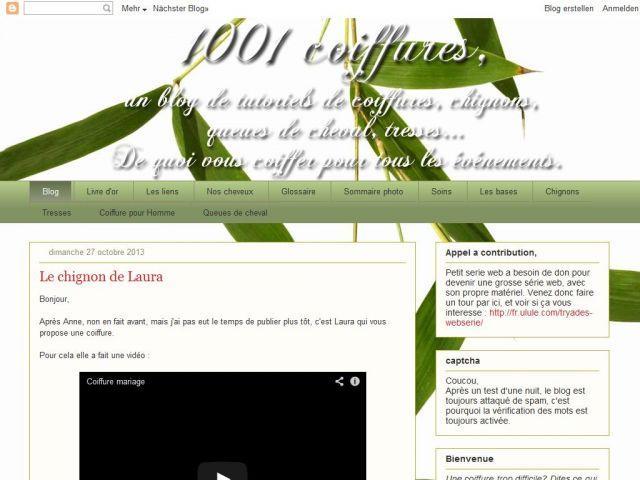 Coiffures et Chignon de Tiquette et Coqilico