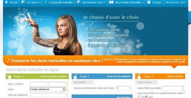 Mutuelle sante sur 123mutuelles.fr