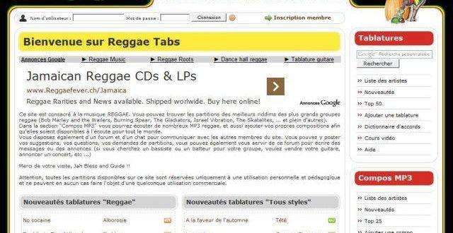 Reggae Tabs – Partitions et musique reggae