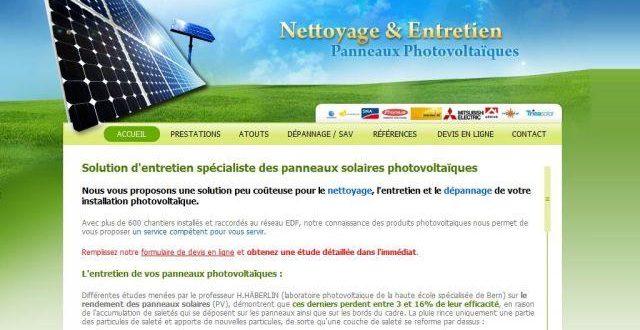SAV des panneaux photovoltaïques
