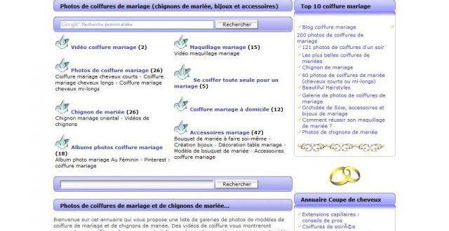 Coiffure mariage et chignons de mariée
