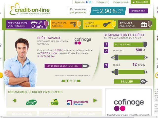 Demande de crédit en ligne