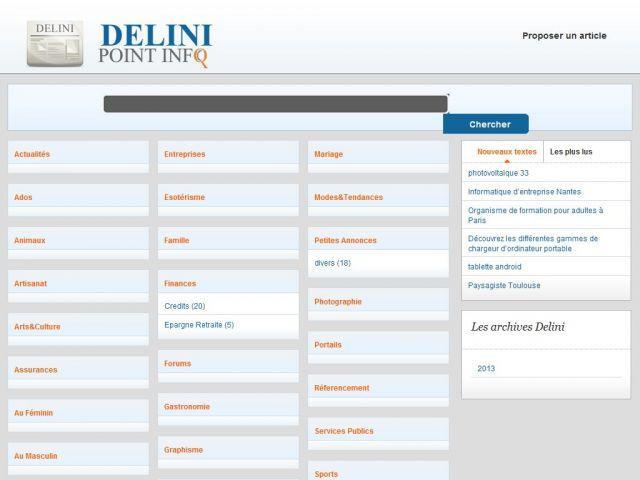 Référencer un site internet sur Delini