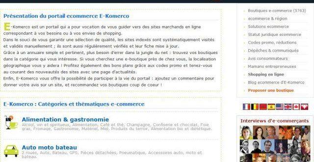 Annuaire du E-commerce et des boutiques en ligne
