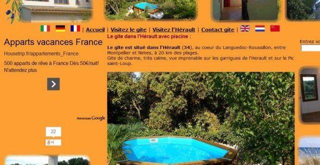 Gite 34, un gite de charme dans l'Hérault
