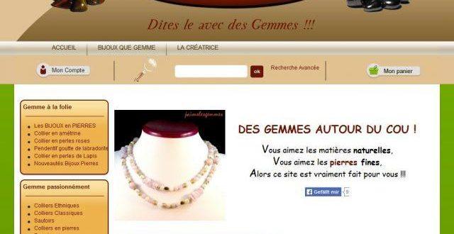 Bijoux, pierres semi-précieuses et minéraux «J'aime les Gemmes»