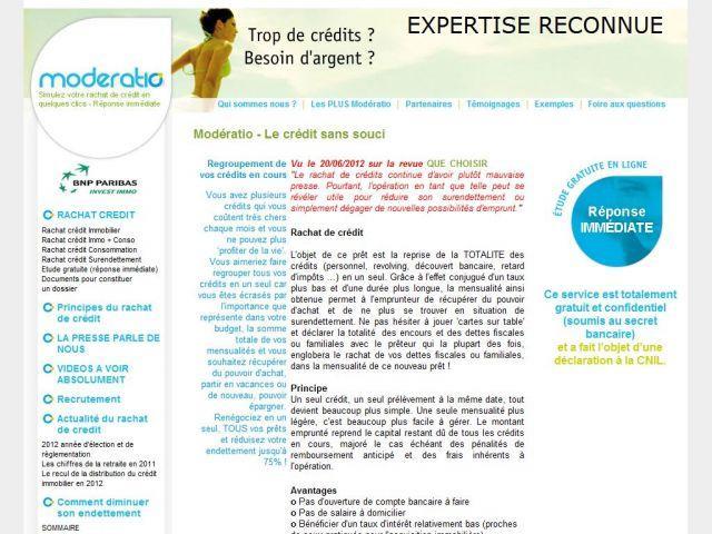 Rachat de credit avec Moderatio