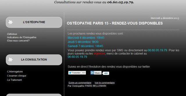 Ostéopathe Paris 15 – Bellemain Stéphane