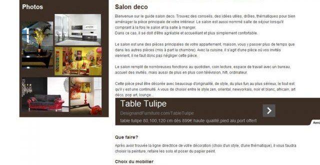 Deco salon sur salon-deco.com